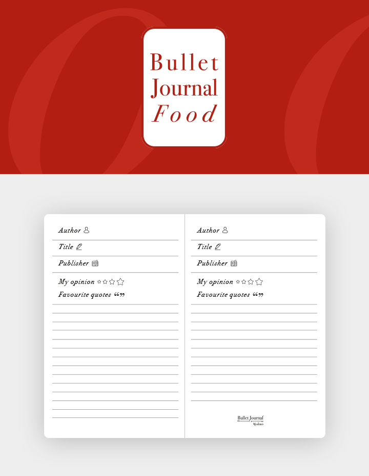 Bullet-Journal-Box-Refill-Food-organizer
