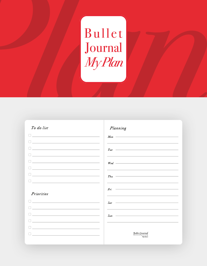 Bullet-journal-Box-Refill-MyPlan-organizer